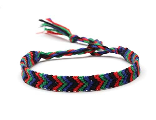 Pulsera ZIYUYANG, pulsera de encaje de hilo bordada multicolor, señoras, hombres, niños, joyería clásica tejida, regalos con revestimiento de rodio