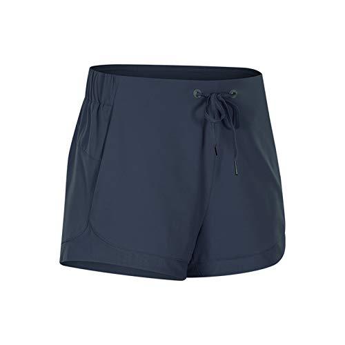 Pantalones Cortos Deportivos 2 En 1 para Mujer, Mediados De Cintura Cortocircuitos Deportivos Gym Workout Cintura Yoga Casual Corriendo Pantalones Cortos B,XXL