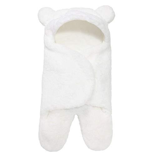 KoelrMsd Saco de Dormir para bebé, Forro Polar Ultra Suave y Esponjoso, Manta de recepción para recién Nacidos, Ropa para niños y niñas, Envoltura para Dormir, Envoltura para bebés