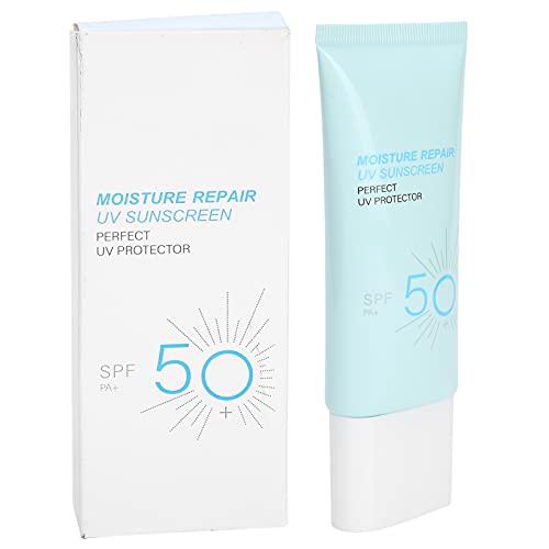 SPF50 + Potente Crema de Protección Solar para el Cuerpo Blanqueamiento Refrescante Loción de Protección Solar Facial, Protector Solar Hidratante Sin Aceite y No Comedogénico para Prevenir los Signos