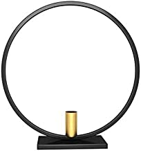 ANH19 Nordic Style Geometric Candlestick Metal Wall Circle Candle Holder Home Wall Decor Candle Holders - tealight Candle Holder