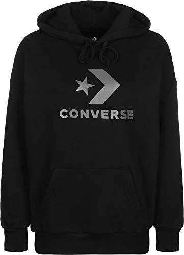 Converse Fndtion Fleece Jacke Damen schwarz/weiß, S