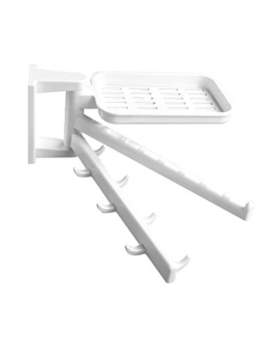 Cowlyn Multifunctional Rotating Shelf Towel Rack Soap Rack Free Punch Wall Hanging Bathroom Storage Rack Creative Kitchen Hook