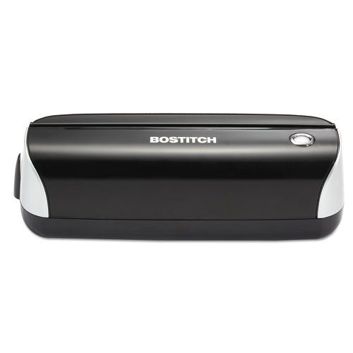 12-Sheet Capacity Electric Three-Hole Punch, Black, Sold as 1 Each