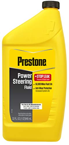 Prestone AS263-6PK Power Steering Fluid with Stop Leak, 50,000 Miles, 32 oz, (Pack of 6)