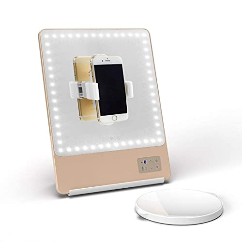 Ubrand Led Pocket Mirror, 2in1 Compact Mirror Travel Makeup Mirror and Power Bank 3000mAh Charger,...