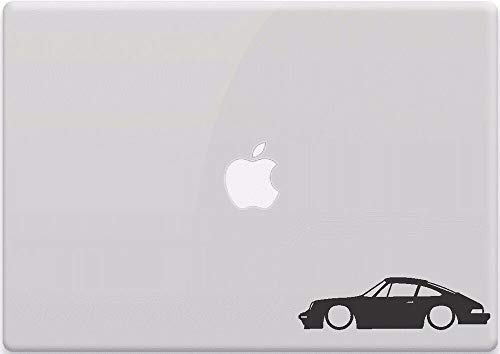Porsche 911 Outline Car Window Sticker Vinyl Decal MacBook Aircooled 930 964 Funny Sticker for Car Truck Bike Window Sticker Vinyl Decal Vehicle Accessories - 4 Inches - 2 Pack