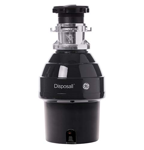 GE GFB760N 3/4 HP 2700 RPM Batch Feed Garbage Disposer Non-Corded with 34 oz Grind Capacity, Black