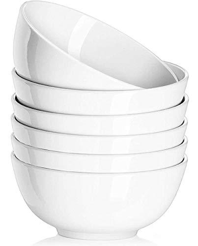 White Porcelain Soup Bowls (Set of 6)