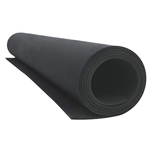 Besbuy EVA-Schaum Große Rolle für Cosplay Crafts Dicke 3mm Schwarz 21,6 × 59 Zoll