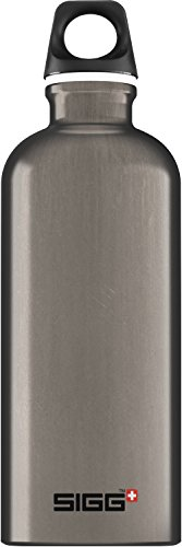 Sigg Traveller Smoked Pearl Trinkflasche, Dunkelgrau, 0.6 L