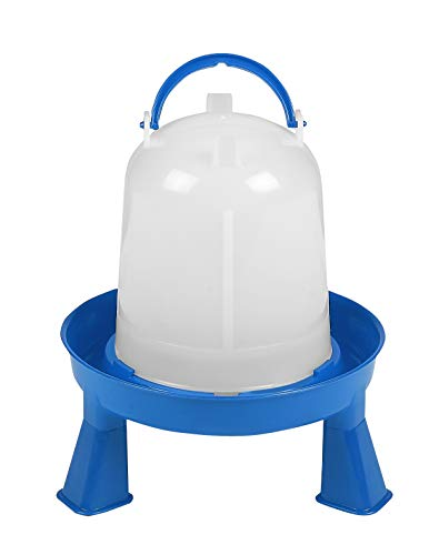 Poultry Waterer with Legs (Blue & White)