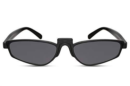 Cheapass Gafas de Sol Wide Cat Eye Montura Negra con Lentes Oscuras Retro Diseño Moderno protección UV400 Mujer