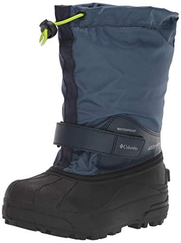 Columbia Unisex-Kid's Powderbug Forty Snow Boot, Whale/Fission, 6 Regular US Big Kid