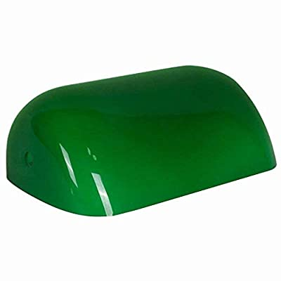 """Arncmiv Green Glass Bankers Lamp Shade Replacement Cover, 8 2/3"""" Width (22cm)"""