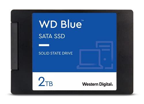 WD Blue SATA SSD 2 TB, 2,5 Zoll (interne SSD, hohe Zuverlässigkeit, Lesevorgänge bis zu 560 MB/s, Schreibvorgänge bis zu 530 MB/s, stoßsicher und WD F.I.T. Lab-zertifiziert)