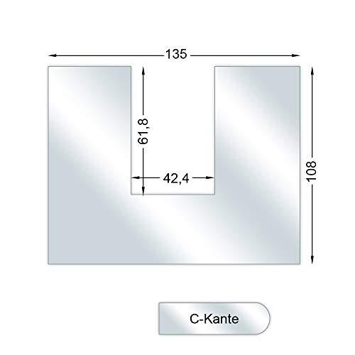CERA Design Glasvorlegeplatte aus Einscheibensicherheitsglas für Kamin KL1