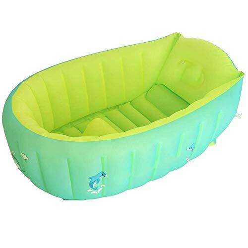 XWX Bañera Bebé Recién Nacido For Bebés De La Bañera Inflable Aislamiento Puede Sentarse Y Acostarse Grande Espesado Kid Cubo (Size : S)
