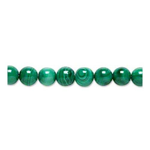 Charming Beads Pacco 5 x Verde Malachite 8mm Tondo Perline GS1394-4