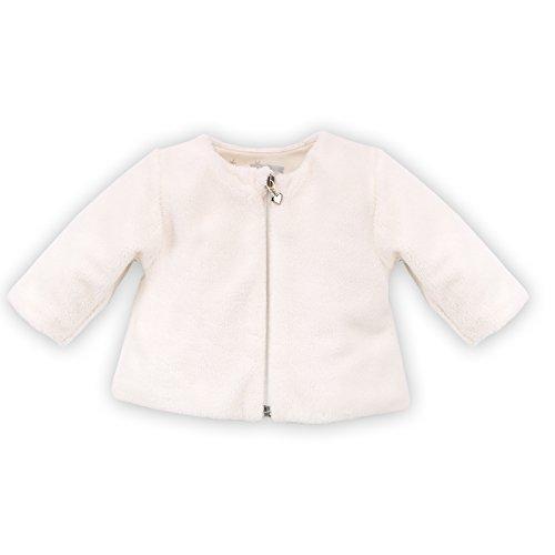Pinokio - Magic- Fleecejacke Sweatjacke weich für Babys und Kids - 100% Polyester, Futter aus 100% Baumwolle Weiß Creme - Jacke für Mädchen Unisex (68)