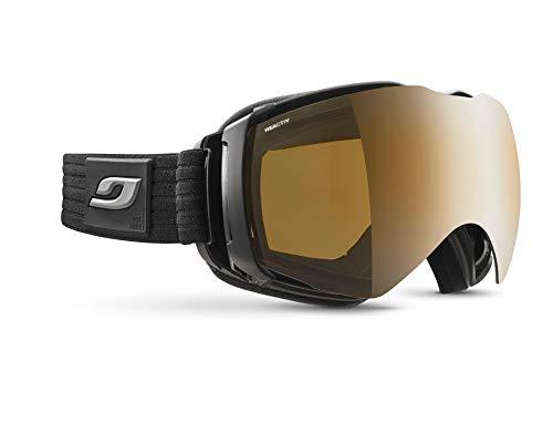 Julbo Aerospace Skibrille für Brillenträger OTG, mit REACTIV Visier, polarisierend und polarisiert, für Herren, Schwarz / Grau Rubber, XL+