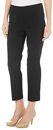 Zac & Rachel Petite Millennium Slim Ankle Pants 8P Black