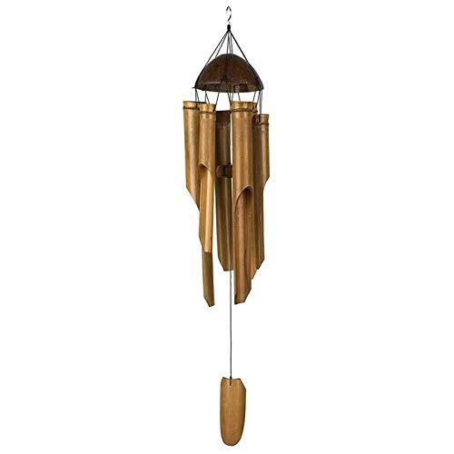 YKW Madera Hecho a Mano Bambú Chimes de Viento Vida al Aire Libre Virena Viento Chimes Copos de Viento de Cobre Ventana Inicio Ventana Decoración Colgante