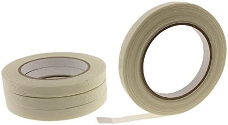 4pk of 1 2 in Fiberglass Reinforced Packing Filament Strapping Tape 4 3 Mil Thickness 125 lb product image