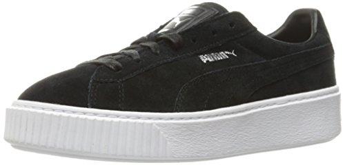 Zapatillas de deporte con plataforma de gamuza para mujer, Puma Black / Puma White, 7 M US