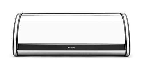 Brabantia 132841 Boîte à Pain avec Couvercle Coulissant INOX Acier Brillant Taille Large 27 x 44,8 x 17,5 cm
