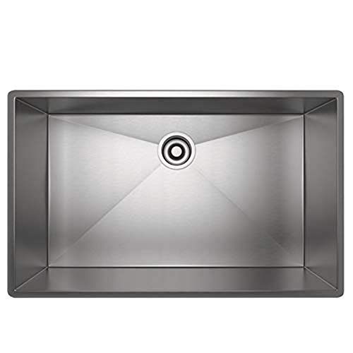 Rohl RSS3018SB 30-Inch Kitchen Sink with Tangent Edge, Brushed