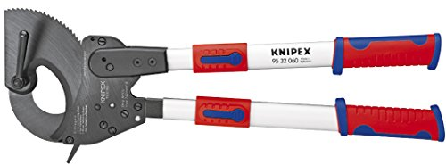 KNIPEX Tools - Cable Cutters, Ratcheting Type, Telescopic Handles, Multi-Component (9532060)