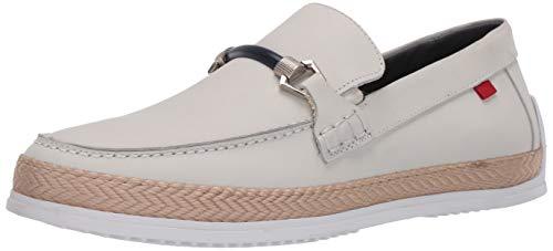 MARC JOSEPH NEW YORK Herren Lederschuhe Luxus Deck mit Bissschnalle/Seil-Detail Boot, Weiá (Weiße Nappa), 39.5 EU
