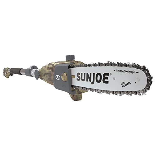 Sun Joe SWJ803E-CMO 10 inch 8.0 Amp Electric Multi-Angle Pole Chain Saw, Camo
