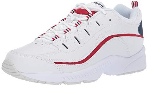 Easy Spirit Women's Romy Sneaker, White/Red, 5