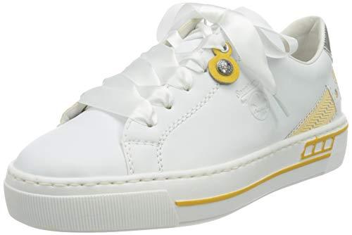 Rieker Damen L8824-81 Sneaker, Weiss, 38 EU