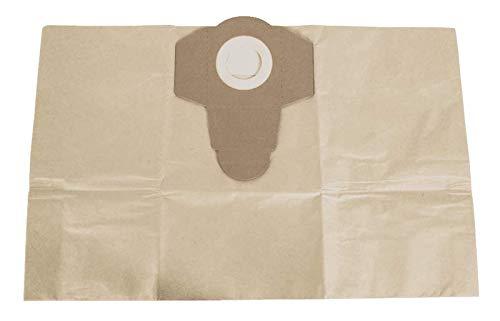 SCHEPPACH Papier Vacuumbeutel für Nass/Trockensauger 12-15L (1 Satz = 5 Stück Staubsaugerbeutel, passend für ASP12-ES und ASP15-ES)