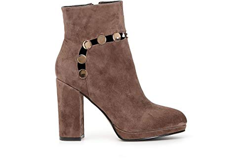 CAFÉ NOIR JULIET Enkellaarzen/Low boots femmes Taupe Enkellaarzen