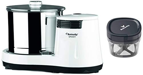 Butterfly Grinder With Coconut Scrapper & Vegetable Chopper, White