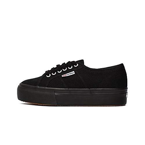 Superga 2790 Linea Updown Flatform Damen Sneaker,Schwarz (996) ,39 EU