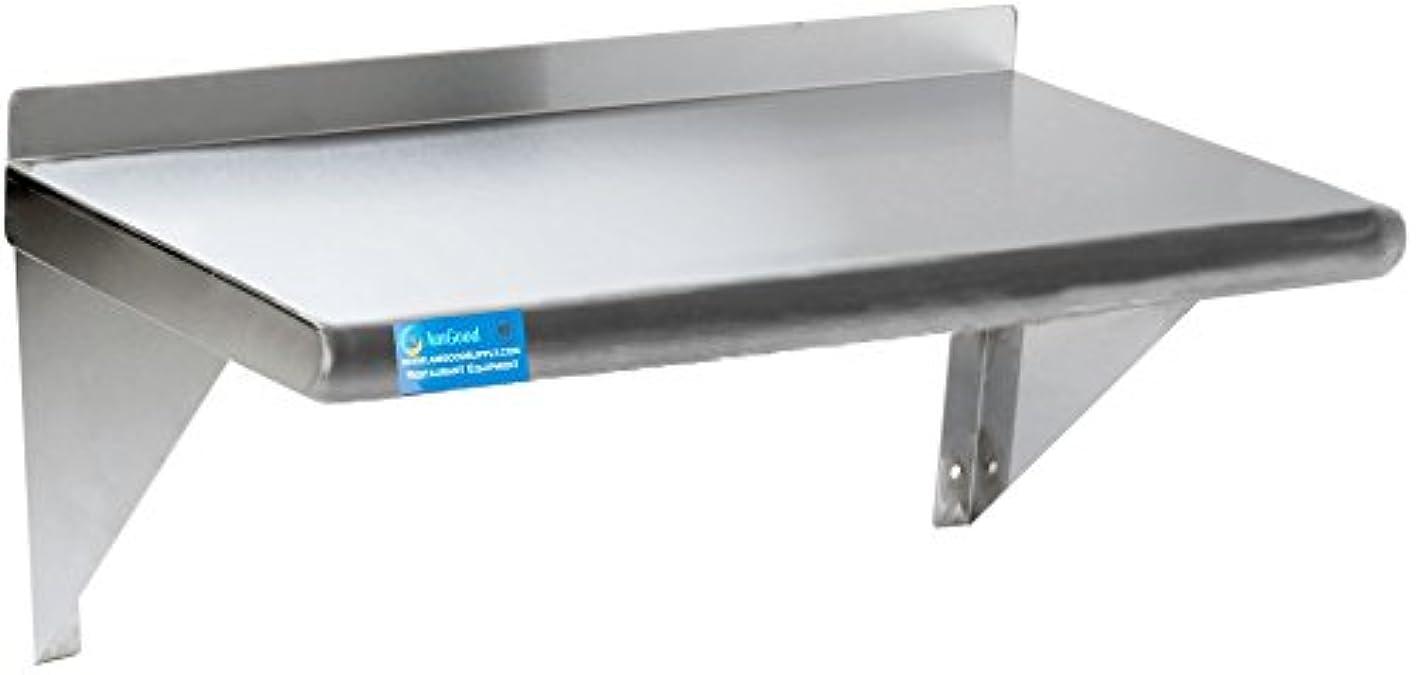 Stainless Steel Wall Shelf | Metal Shelving | Garage, Laundry, Storage, Utility Room | Restaurant, Kitchen | Food Prep | NSF Certified (30
