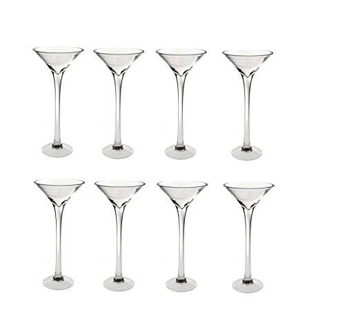 8x 40cm Martini Glas Vase Tisch Mittelpunkt Hochzeit Dekorationen