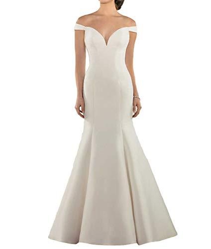 Trumpet Off the Shoulder Satin Wedding Dress