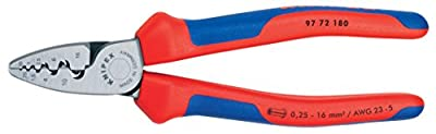 KNIPEX Tools - Crimping Pliers For End Ferrules, Multi-Component (9772180)
