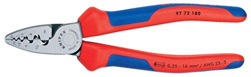 KNIPEX 97 72 180 Crimpzange für Aderendhülsen, Komfort-Griffe