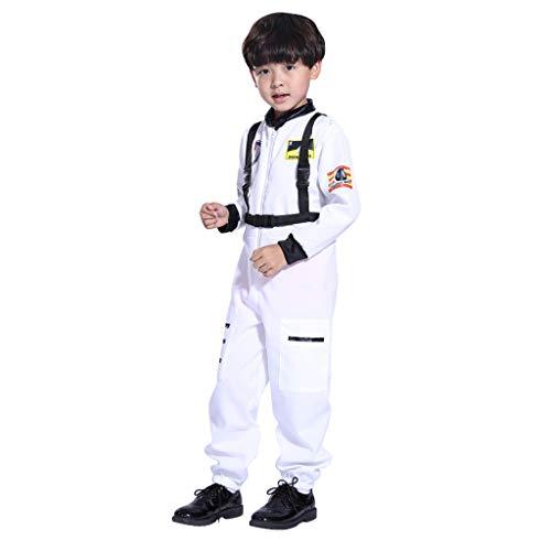 sunnymi Kinder Mantel Kinder Jungen Overall Rollenspiel Astronaut Spaceman Cosplay Flight Space Suit Kostüm