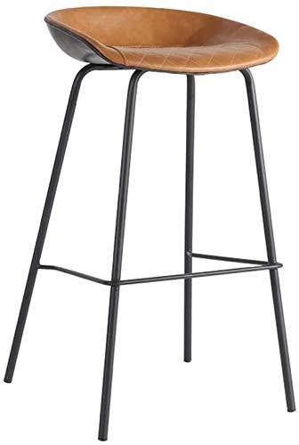 Barkruk – barkruk upgrade-jaar PU-leer barkruk, beklede kruk en rugstoel gastronomie, gebruikt voor keuken, bistro, bistro, terras, cafékruk, gewicht 200 kg, zwarte poten, barkruk