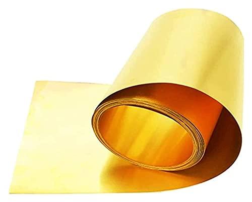 brass metal raw materials HAOKTSB Metal Copper foil Copper Sheet Metal Brass Cu Metal Sheet Foil Plate is Ideal for Handicrafts Enamel Copper Restoration 0.6mmx50mmx1m Brass Plate Brass Plate