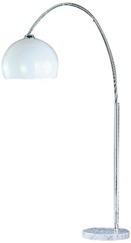 Trio 4200011-06 staande lamp chroom, kunststof kap wit