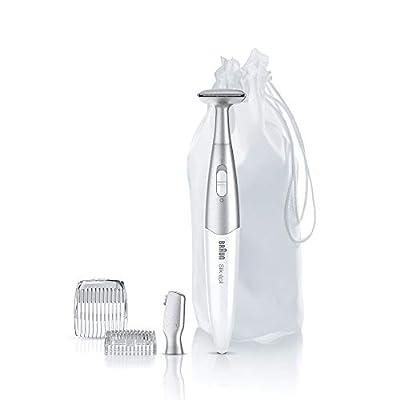 Braun Silk-Epil Bikini Styler FG1100 3-in-1 Precision Bikini Trimming and Styling with 4 Extras, White